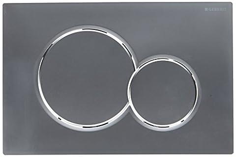 Geberit Betätigungsplatte Sigma01, Kunststoff für 2-Mengen-Spülung, Betätigung