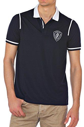 M.Conte Uomo maglietta da polo shirt manica corta Owen blu M