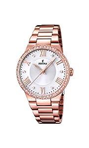 University Sports Press F16721/1 - Reloj de cuarzo para mujer, con correa de acero inoxidable chapado, color oro rosa de University Sports Press