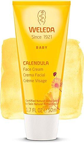 Baby Crema Viso alla Calendula, Protezione delicata per la Pelle dei Neonati - Weleda - 50 ml