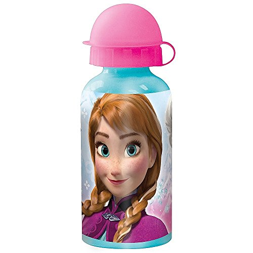 Joy Toy Alu-Trinkflasche 400 ml | Disney Eiskönigin | Frozen | - Aluminium-trinkflasche Disney