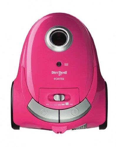 Dirt Devil M 7012 Bodenstaubsauger Popster, 2000 Watt, pink, mit Beutel, inklusiv Parkettbürste