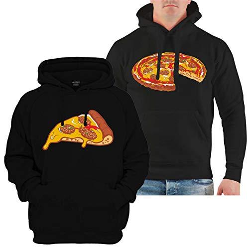 Partner Kapuzenpullover Vater & Sohn Familien Outfit Pizza