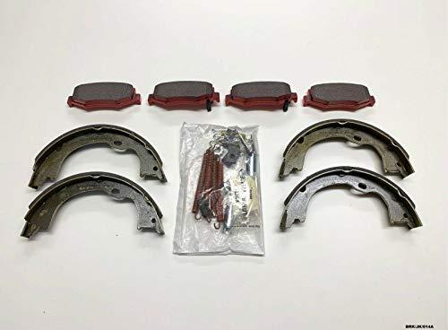 NTY - Pastiglie freno posteriori in ceramica, kit di montaggio Wrangler JK 2007-2018