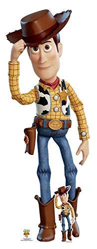 Star Cutouts SC1371 Cowboyhut aus Holz, neigbar, 162 cm hoch, mit Aufsteller aus Pappe, Toy Story 4 Party- und Sammlerartikel, mehrfarbig (Toy Girl Story In)