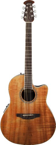 Ovation Celebrity Standard Plus Figured Koa CS24P-FKOA Roundback Westerngitarre