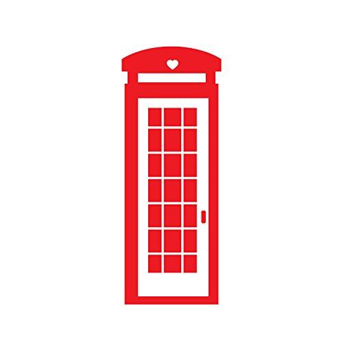 Pulse Vinyl British Telefon Booth-Art Wand Aufkleber-152,4x 58,4cm-Schlafzimmer Wohnzimmer Art Wand Dekoration-Wohnung Wall Decor-Dekorative Vinyl Skins 60