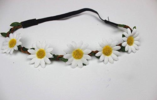 yeah67886Beach Hochzeit Haarschmuck Sonnenblume Kranz Flower Garland Krone Festival Blumen Haarband (Blume Krone Sonnenblume)