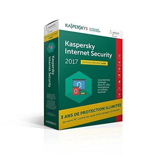 Kaspersky Internet Security 2017 (1 poste/3 ans) - édition spéciale