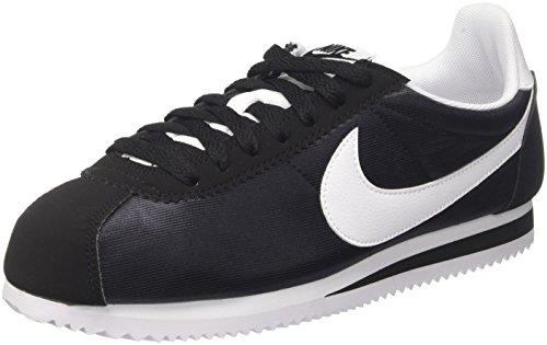 Nike Damen Wmns Classic Cortez Nylon Sneakers Schwarz (Black/white/black 007)