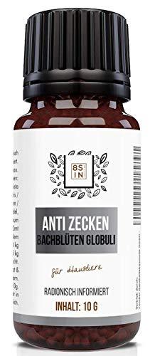 8 Sin Nutrition Anti Zecken Globuli | Radionisch informiert | Bachblüten | Für Haustiere (Hunde, Katzen UVM)