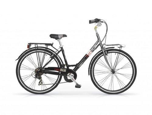 MBM PEOPLE WOMAN BICYCLE 28 H46 7S TREKKING CITY BIKE BICICLETA CIUDAD MUJER NEGRO