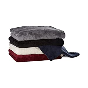 Relaxdays Kuscheldecke extragroß aus Polyester, Fleece, bei 30°C waschbar, HBT: 1 x 200 x 220 cm, champagner
