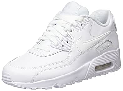 Nike Girls Air Max 90 Leather Running Shoes: Amazon.co.uk