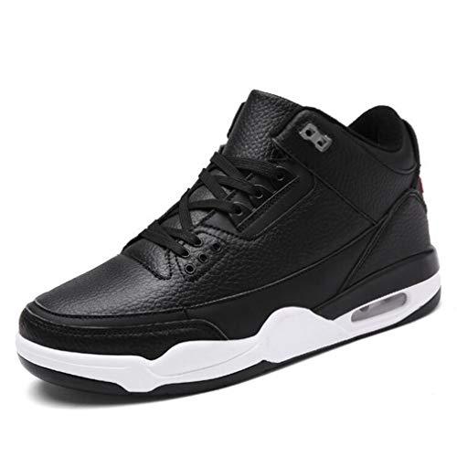 Herrenschuhe Herbst Winter Sneakers/Men Large Size Freizeitschuhe Laufschuhe/Thick Bottom Academy Air-Kissen Basketball-Schuhe (Farbe : EIN, Größe : 47)