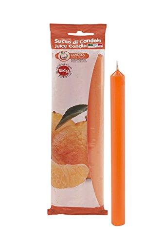 Scheda dettagliata Cereria di Giorgio Succo Candele Profumate alla Frutta, Cera, Arancione, 1.9x1.9x20 cm, 3 unità