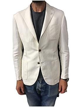 L.B.M 1911 giacca uomo avorio 45% cotone 55% lino vestibilità regular slim
