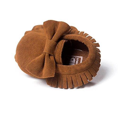 OverDose, BéBé Lit De BéBé Glands Bowknot Chaussures Tout-Petit Baskets DéContractéE Chaussures Brun