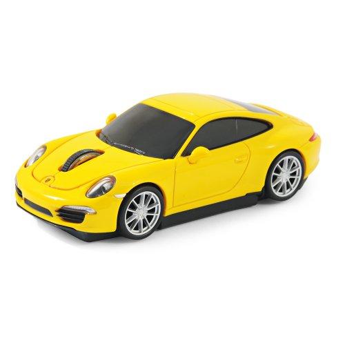 Offiziell lizenziertes Produkt - Laser Computermaus Funk maus - Porsche 911 (991) Carrera S - Gelb