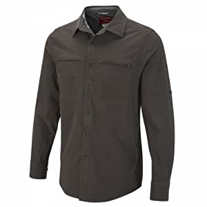 Craghoppers Herren Hemd Nosi Life Long Sleeve Stretch Shirt, Dark Bark, S, CMS406 0L3