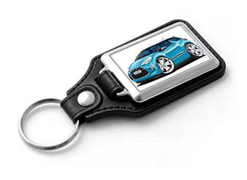 wickedartz-cartoon-car-citroen-ds3-metallic-blue-classic-style-key-ring