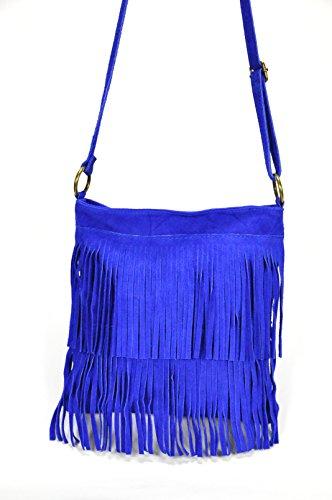OH MY BAG Sac à Main femme en cuir à franges porté bandoulière Nouvelle Collection - SOLDES