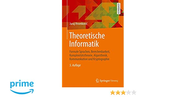 theoretische informatik hromkovic juraj