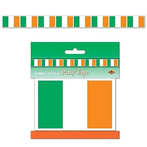 Pack de 12 irish flag party tape