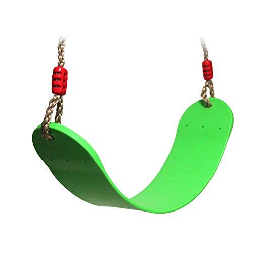*Extsud Elastischer Kinderschaukel Farbe EVA weichen Bord U-Schaukel Brettschaukel Schaukelsitz Schaukelbrett belastbar bis ca. 150Kg Spielplatz im Freien Schaukel (Grün)*