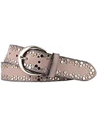 a54e3496b7b8 Vanzetti Damen Leder Gürtel rosa 40mm mit Airbrushkanten und Nieten  Damengürtel