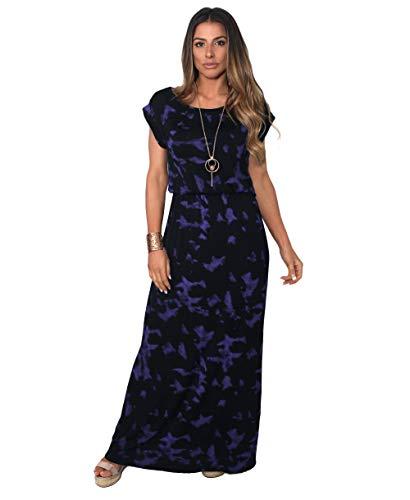 KRISP Maxi Robe Femme Longue Casual Chic Bohème, Violet - (5081), 36