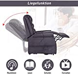 HOMCOM Elektrischer Fernsehsessel Aufstehsessel Relaxsessel Sessel mit Motor und Aufstehlhilfe Braun - 5