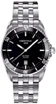 Certina Herren-Armbanduhr XL Analog Quarz Edelstahl C014.410.11.051.00