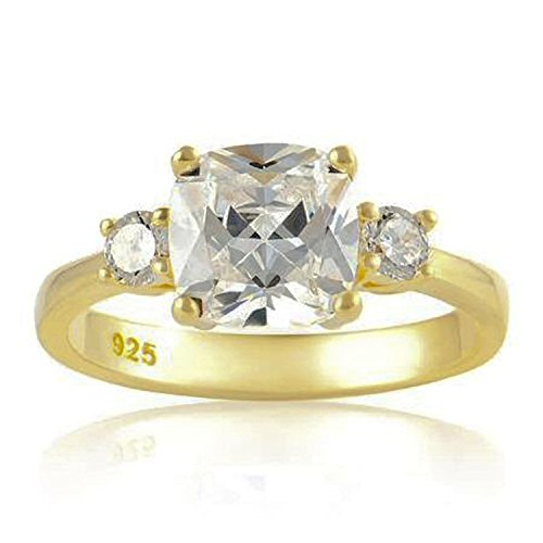 Damen - 925 Sterling-Silber Vergoldetes Silber weiß Oxyde de Zirconium Meghan Markle Size 17 -17 1/2