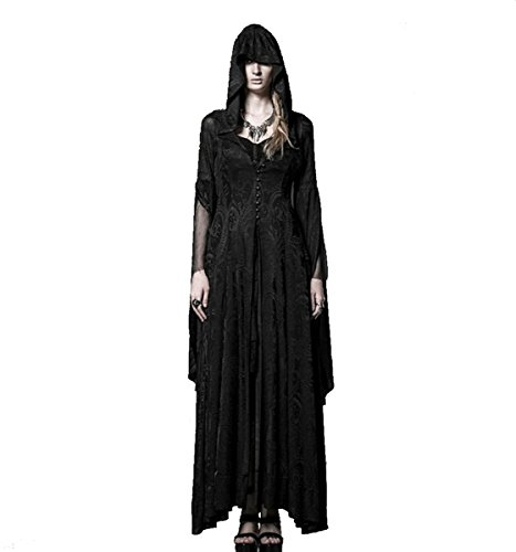 Punk Rave Dark Dreams Gothic Mittelalter Steampunk LARP Mantel - Kleid Myrium, ()