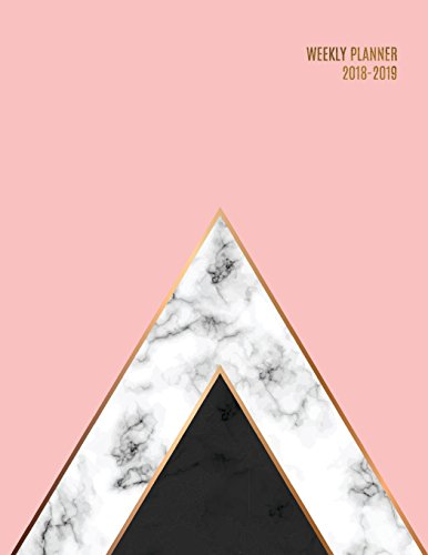 Weekly Planner 2018-2019: Marble + Gold Design | Jul 18 - Dec 19 | 18 Month Mid-Year Weekly View Planner Organizer with Motivational Quotes + To-Do Lists (Weekly View Planners) por Jolly Journals
