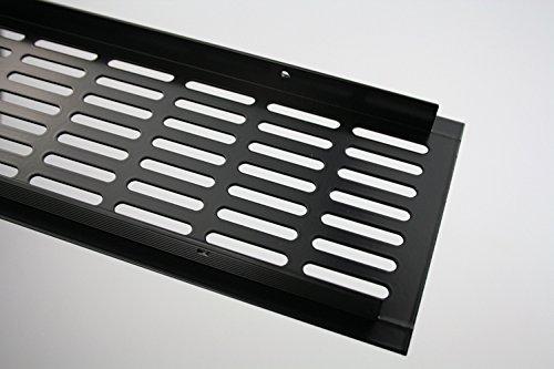 Aluminium Lüftungsgitter Tôle d'âme - Noir revêtement en poudre - Largeur 100 mm - divers Longueur - 1000mm