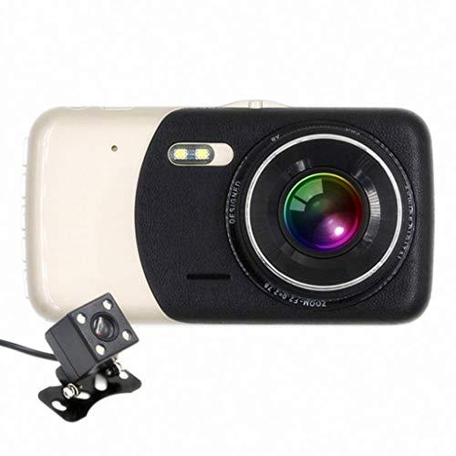 XHYA 4-Zoll-Bildschirm Fahren Recorder HD Dual Lens Nachtsichtgerät 1080P vor und nach der doppelten Aufnahme Nachtsichtparküberwachung (Color : C) - Dual-nachtsichtgerät