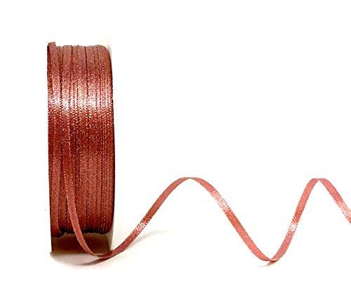 Bertie's Bows Goldfarbenes Satinband, glitzernd, 3 mm breit, 5m lang