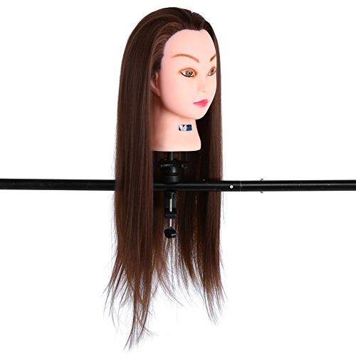 Haare Frisuren, Frisierkopf 30% Echthaar Frisur Kosmetik Praxis Mannequin Puppe Kopf Ausbildung Frisur mit Halterung Frisurenhilfe Set Haare Styling Set - Wettbewerb Mannequin