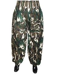 Sarouel pantalon Large homme femme 100% Coton - camouflage combat