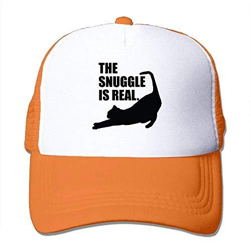 Hoswee Unisex Kappe/Baseballkappe, The Snuggle is Real Men Women Mesh Back Trucker Cap Snapback Hat