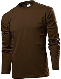 Amazon.fr   Marron - T-shirts à manches longues   T-shirts, polos et ... 284b8774d0d5