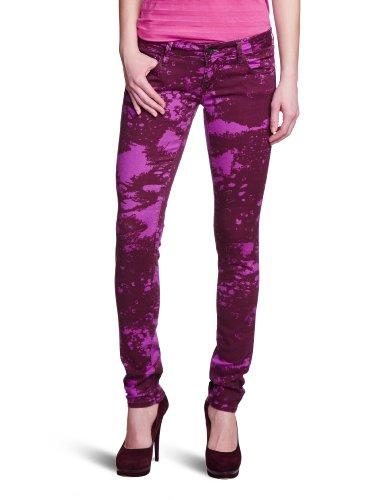 Mavi Damen Jeans Niedriger Bund Serena; 1067013780, Gr. 29/32, Pink (13780 Serena; Purple Galaxy Print) Ag Jeans Low Rise Jeans