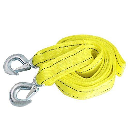 Preisvergleich Produktbild HCL Doppelt Dick Autozubehör Abschleppseil 4 Meter 5 Tonnen Dickere Seil mit Haken für Fahrzeug Gelb mit eine Reißverschluss Tragetasche