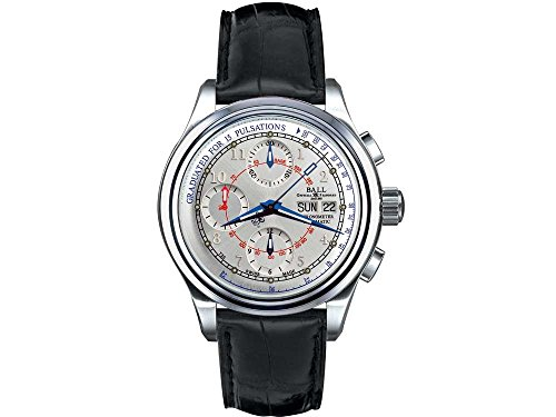 Montre Ball Trainmaster Pulsemeter Chronometer, Déployante, Argemt. COSC