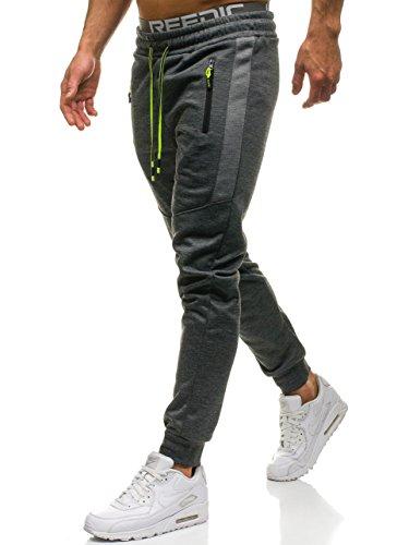 BOLF Hombre Pantalones Jogger Must JX8112 Gris Grafito