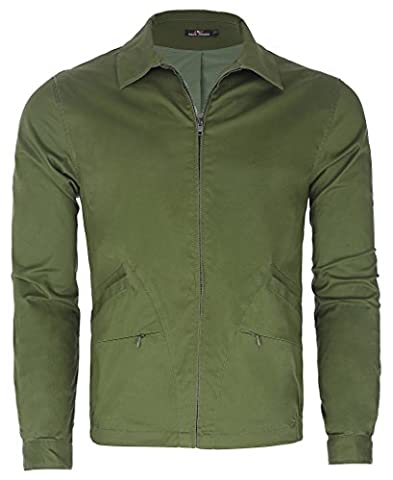 Fashion Men's Big & Tall Full Zip Jacket Coat Outwear (M) PJ0027-2