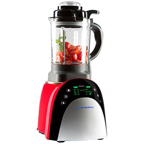 Ultratec Mixer con funzione di riscaldamento – elettrodomestico multifunzione da cucina con touchscreen, 7 programmi e preselezione della temperatura, 1.800 Watt