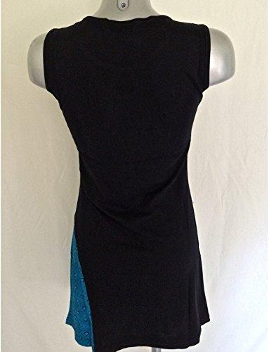 TUNIQUE COTON JERSEY réf:EV14-20 bleu Noir/Bleu